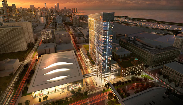 Chicago S 1 205 Room Marriott Marquis And Wintrust Arena
