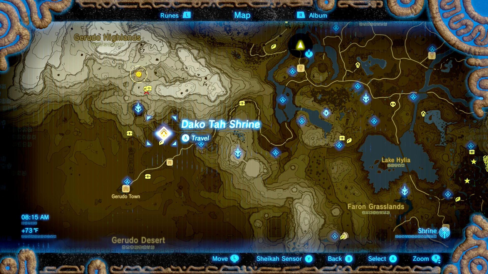 Zelda Breath Of The Wild Guide Dako Tah Shrine Puzzle