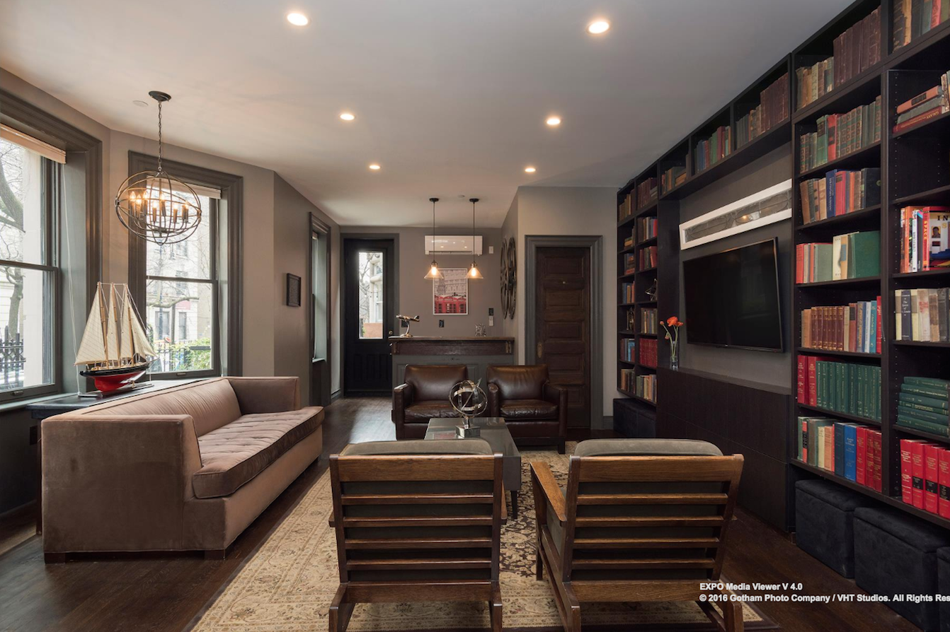 Living Room Bar And Terrace Stunning Hamilton Heights Mansion On A Historic Enclave Wants 55