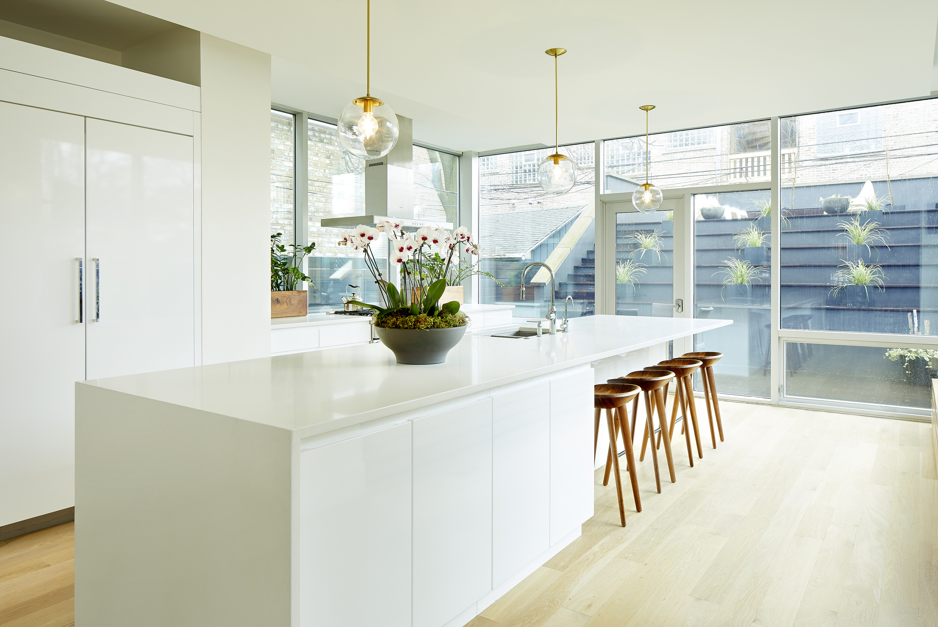 White Kitchens For A Lincoln Park Homes Traditional Face Hides A Modern Heart