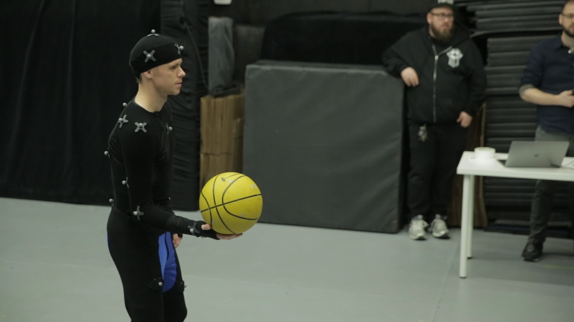 Got Handles - The Professor in motion capture suit