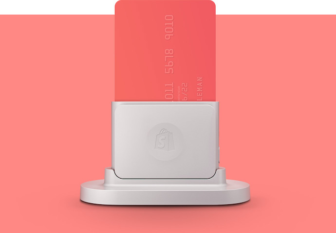 Canada's Shopify launches new wireless card reader (V, MA, AXP)