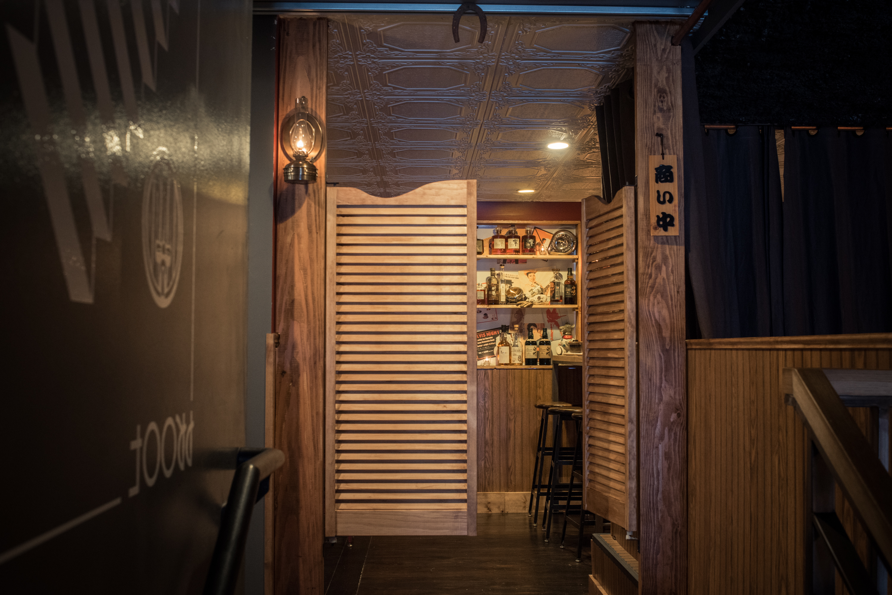Whiskey is the star of double back over proof s boozy new for Back door entrance