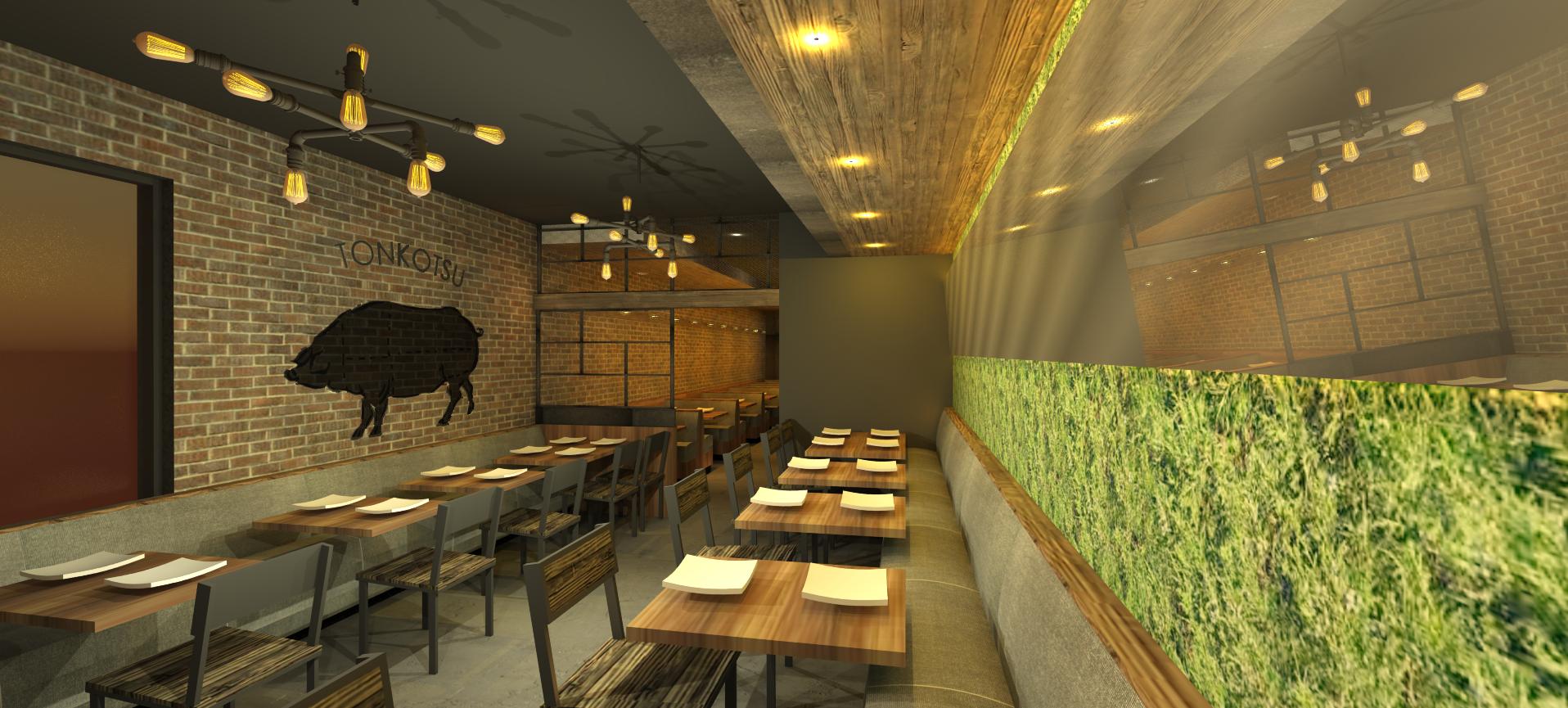 A rendering of the bar at the Jinya coming to Logan Circle. [Official]
