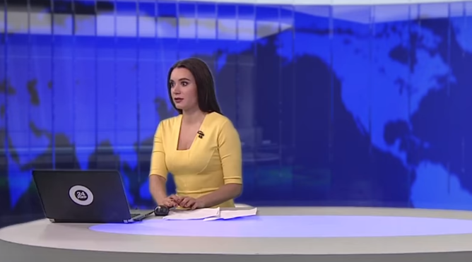 Dog crashes live news broadcast in Russian Federation