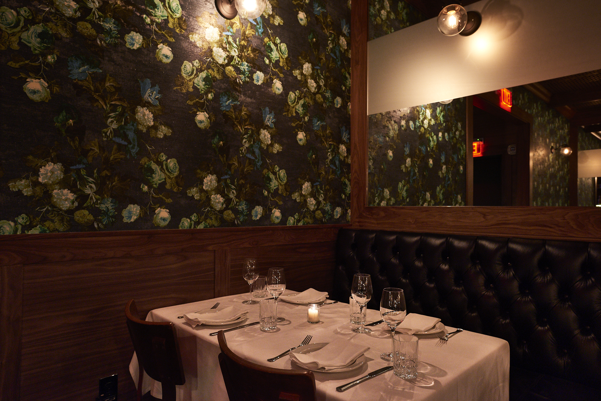 behold omerta's old-school american-italian menus and decor