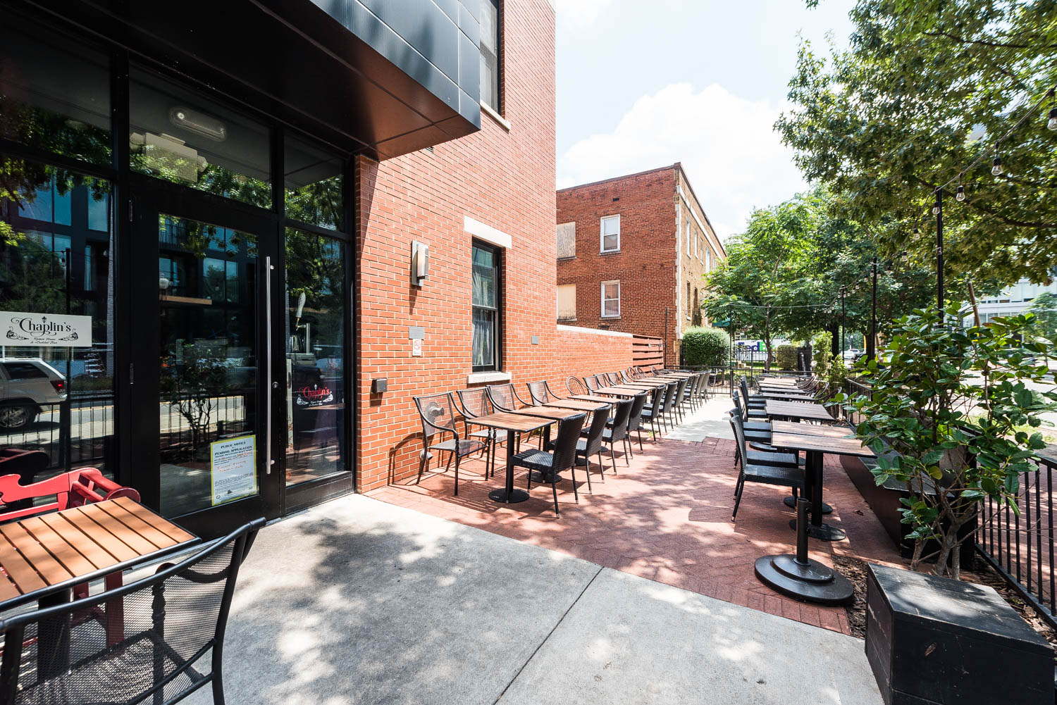 The Outdoor Patio At Chaplinu0027s That Co Founders Ari And Micah Wilder Are  Working On Covering Up For Year Round Use.